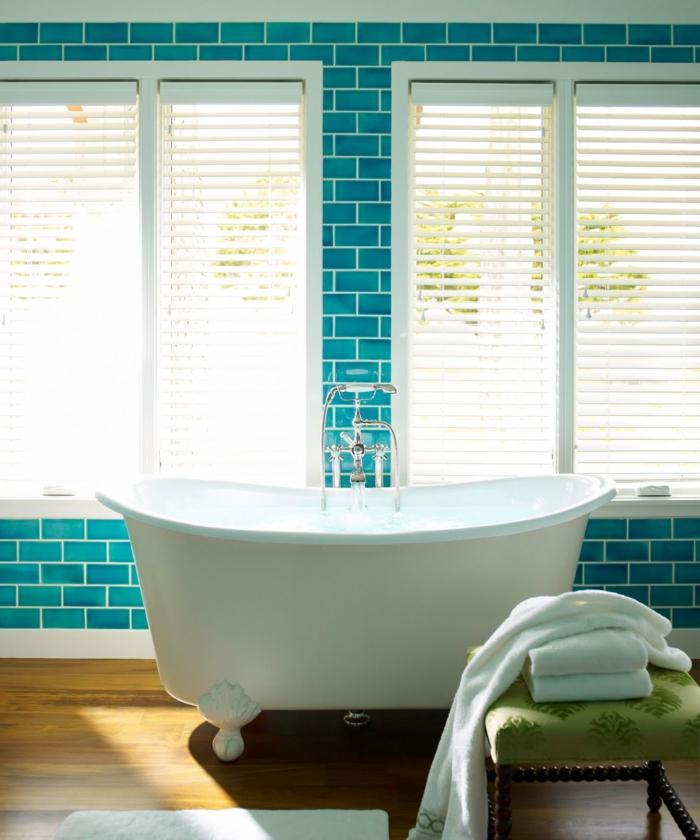 badideen badezimmerfliesen grünnunacen freistehende badewanne