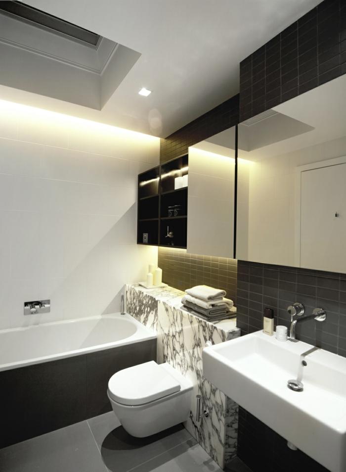 badideen kleines bad badezimmerfliesen badschränke badleuchten