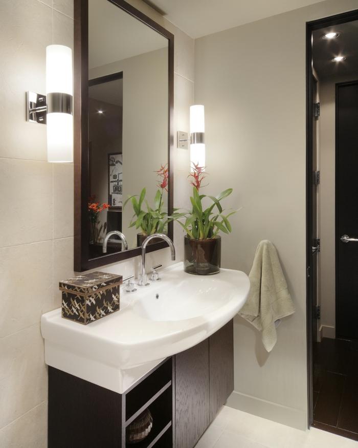 badideen pflanzen dekoideen badezimmer badezimmerfliesen wandleuchten