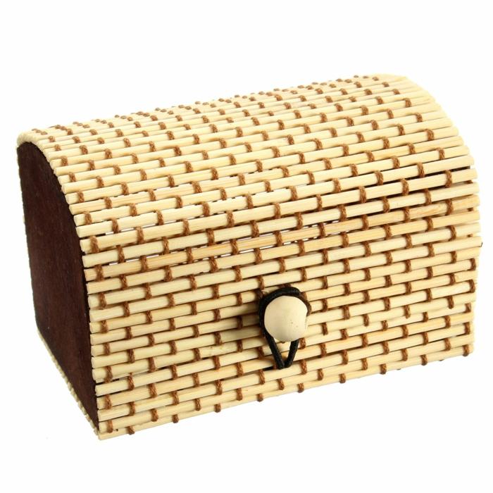 dekoideen deko aus bambus schatulle