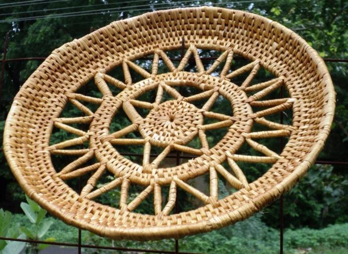 dekoideen deko aus bambus wanddeko accessoires sonne