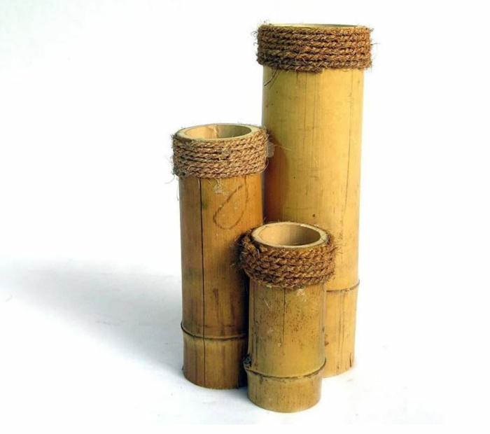 Bambusmöbel und Accessoires bambus deko deko aus bambus wanddeko blumenvasen
