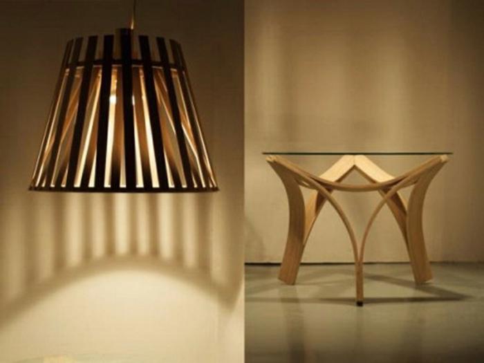 bambus deko deko aus bambus wanddeko hängeleuchte tisch