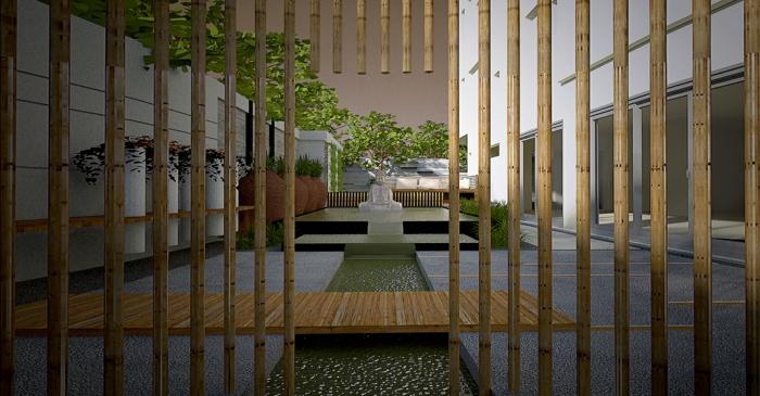 bambus sichtschutz deko deko aus bambus wanddeko raumtrenner vertikal