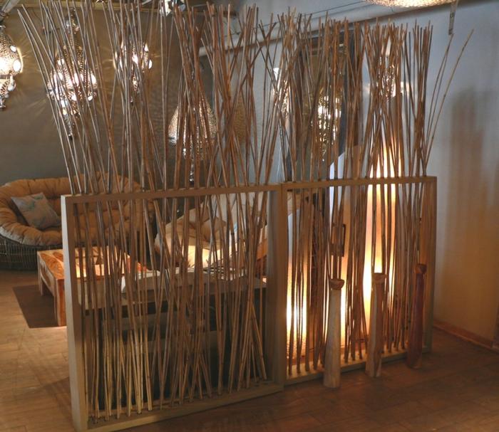 Bambusmöbel und Accessoires bambus deko deko aus bambus wanddeko raumtrenner