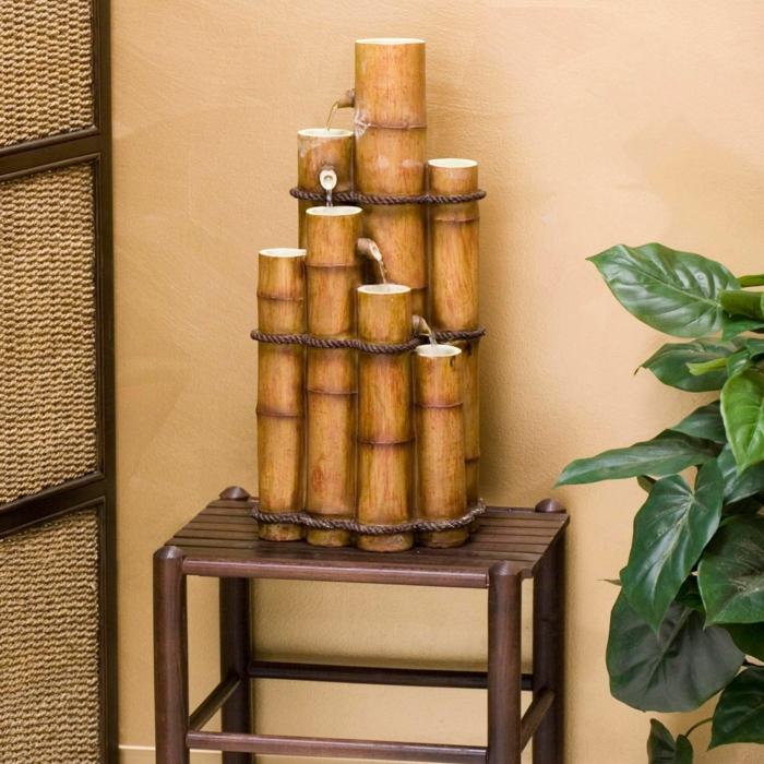Bambusmöbel und Accessoires bambus deko deko aus bambus wanddeko windspiel bambus brunnen