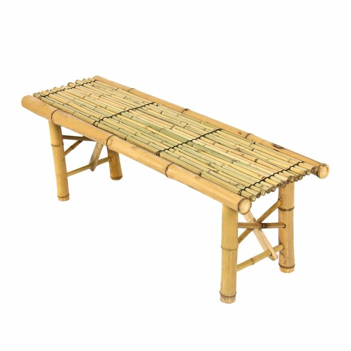 dekoideen deko aus bambus wanddeko windspiel bank