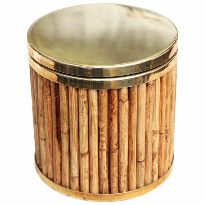 dekoideen deko aus bambus wanddeko windspiel eisschale