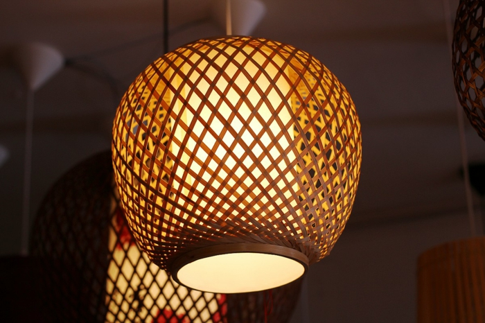 bambusmöbel bambus dekodeko aus bambus wanddeko windspiel lampenschirm