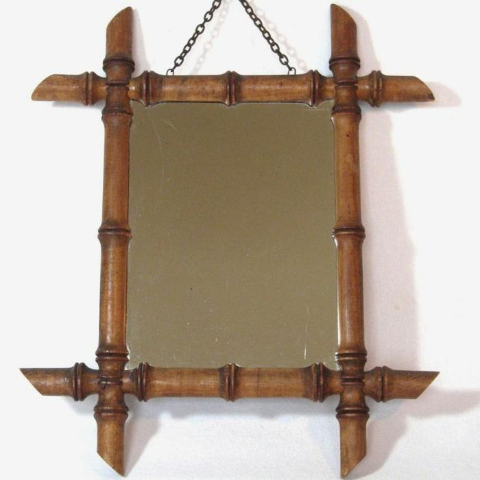 deko ideen deko aus bambus wanddeko windspiel spiegelrahmen