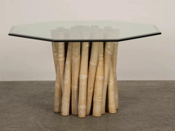 deko ideen deko aus bambus wanddeko windspiel tisch