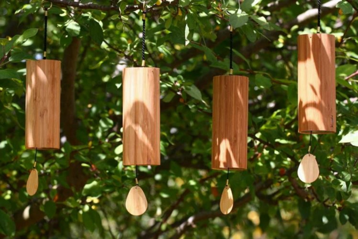 bambus deko deko aus bambus wanddeko windspiel traumfänger