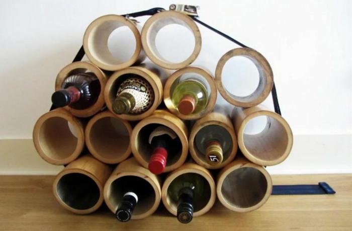 deko ideen deko aus bambus wanddeko windspiel weinregal