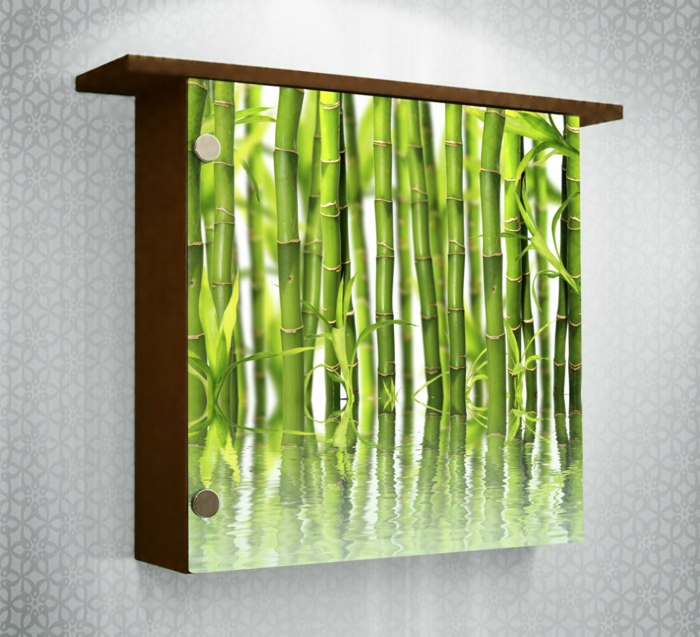 dekoideen deko aus bambus wanddeko