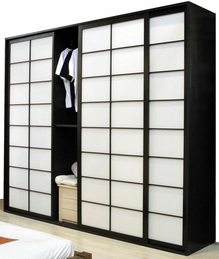 kleiderschrank schiebetüren elegant schlafzimmer einrichten