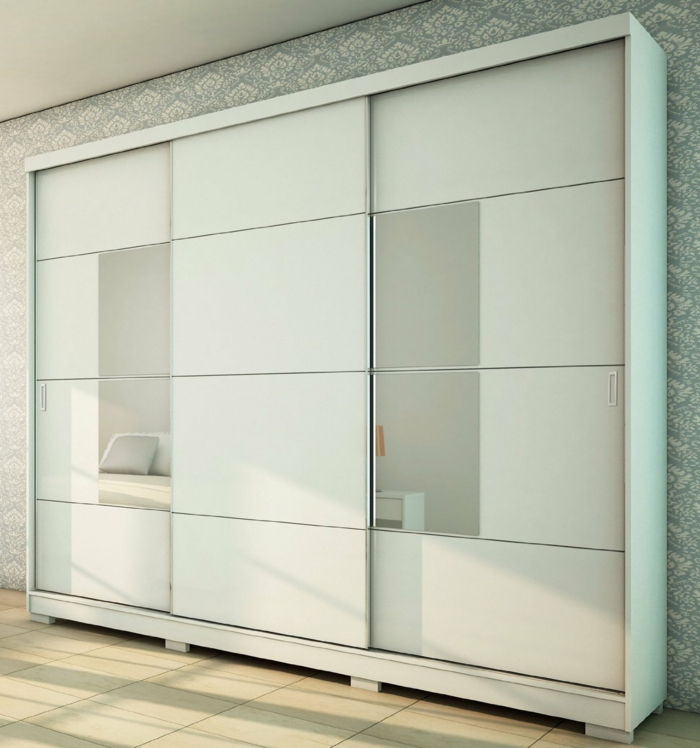 Kleiderschrank Schiebetüren Spiegel ~ kleiderschrank schiebetüren weißer kleiderschrank spiegel