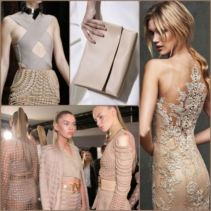 beige Kleider Trendfarben aktuelle Modetrends 2016