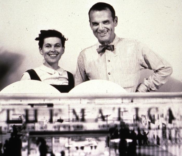 berühmte architekten Charles und Ray Eames portait