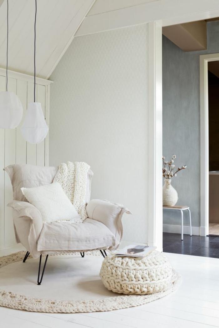 Runder teppich weiß  Moderne Bodenbeläge in Weiß für Ihr wohnliches Zuhause - Fresh ...