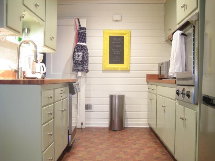 bodenbelag küche küchenideen kleine küche stauraum