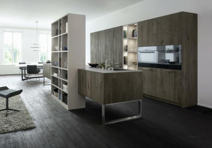 bodenbelag küche laminat regalsysteme stauraum küche modern