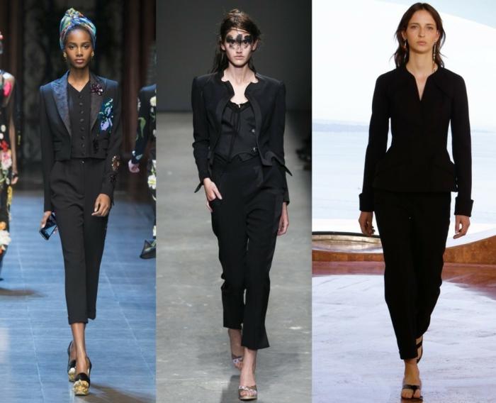 business-anzüge damen 2016 fashion frauenmode schwarze office kleidung klassisches design