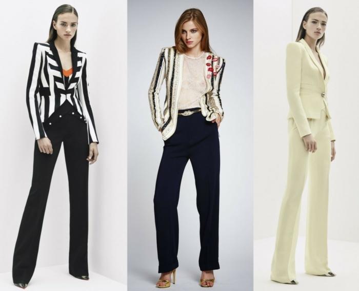business anzüge damen 2016 haute couture beige streifen