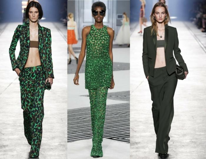 business anzüge damen 2016 haute couture grüne farben military style