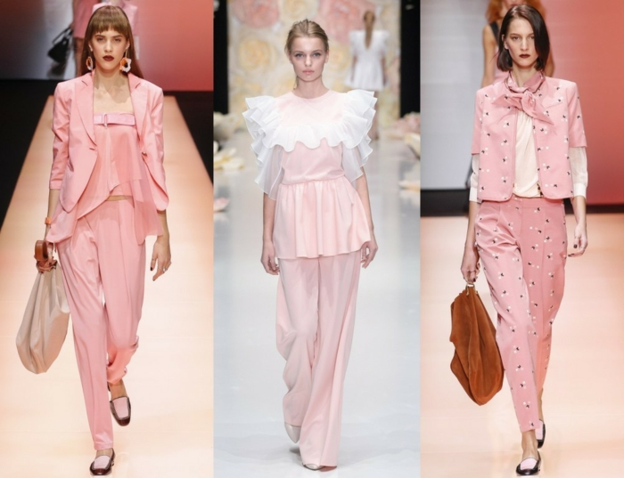 business anzüge damenmode fashion 2016 rosa farbe sakkos hosen