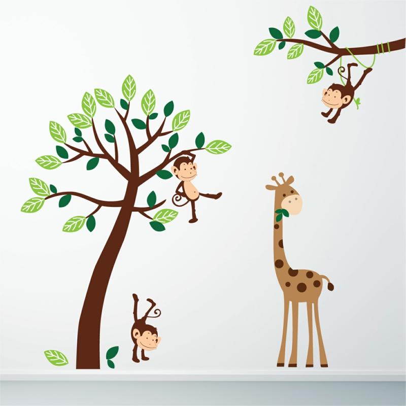 Kinderzimmer wandgestaltung giraffe  Coole Wandtattoos aufkleben: Tipps und Tricks für eine kreative ...