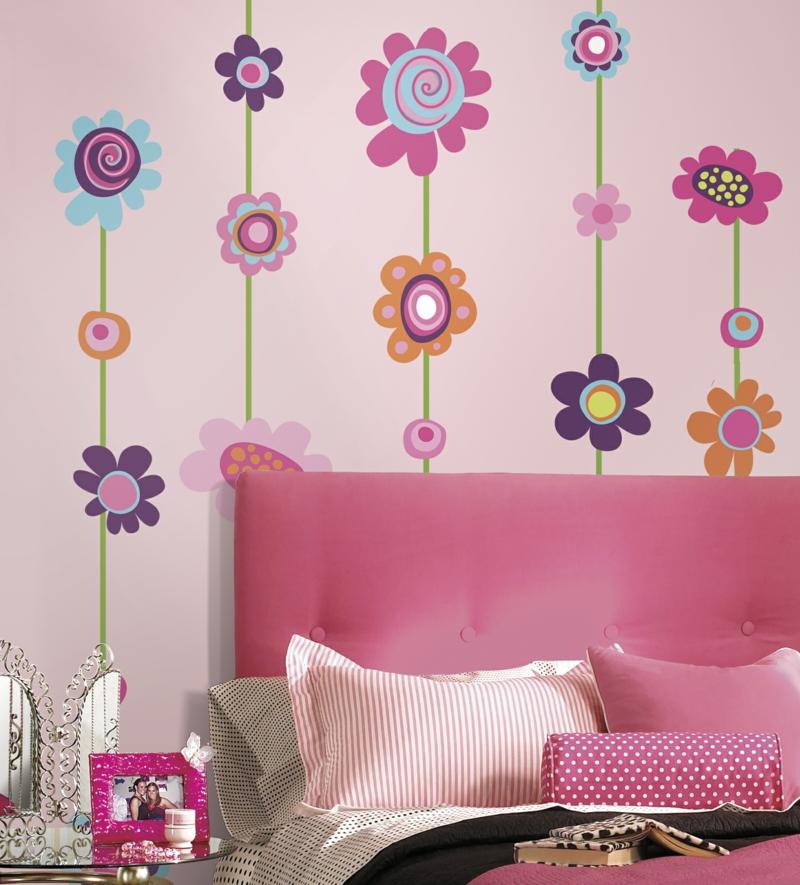 coole Wandtattoos Kinderzimmer Blumen Wandtatoos Mädchenzimmer