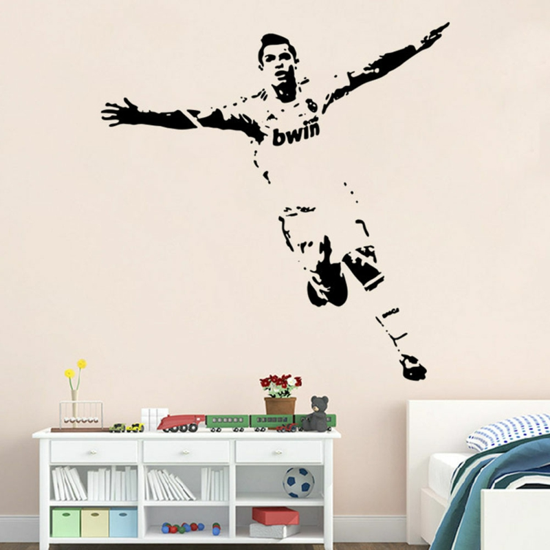 coole Wandtattoos Kinderzimmer Fußballspieler Ronaldo Wandtatoos