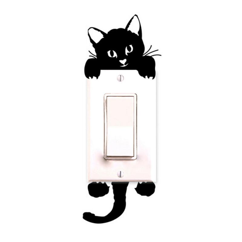 coole Wandtattoos Wanddeko Wandfarbe weiß schwarz Katzen Wandtatoos