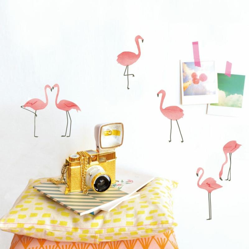 coole Wandtattoos Wohnzimmerdeko Flamingo Wandsticker
