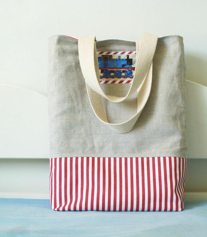 coole bastelideen jutetasche einkaufstasche selber machen