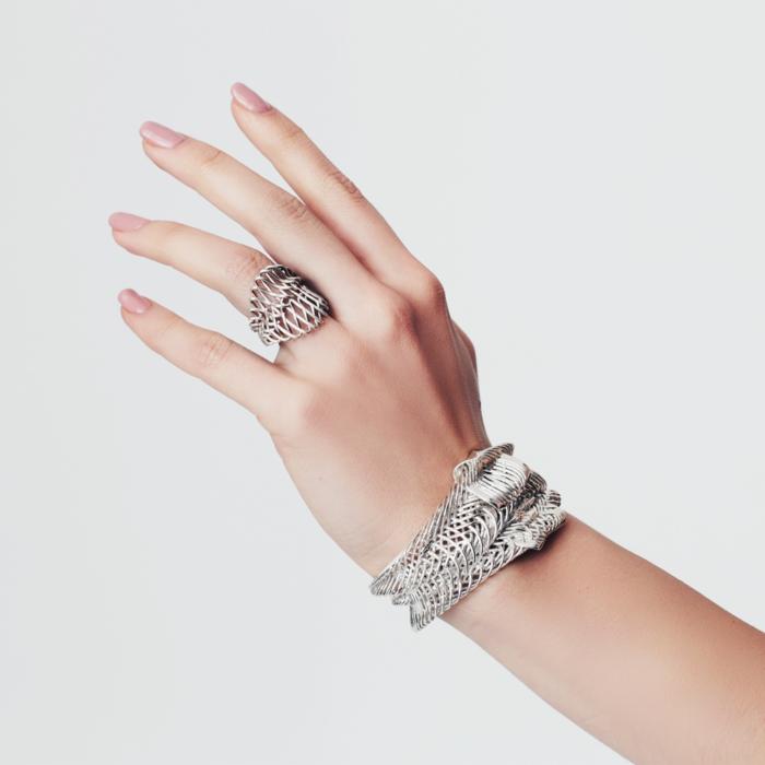 damenschmuck massiv elegant ring armband