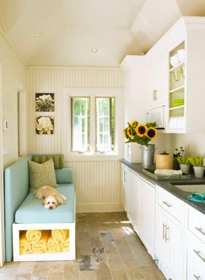 deko ideen kleine küche wohnideen blumen wanddeko