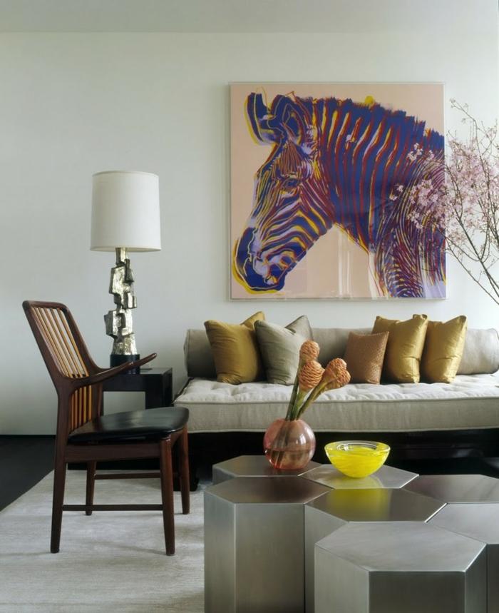 wohnung dekorieren - 55 innendeko ideen in 6 praktischen schritten - Wohnzimmer Deko Gold