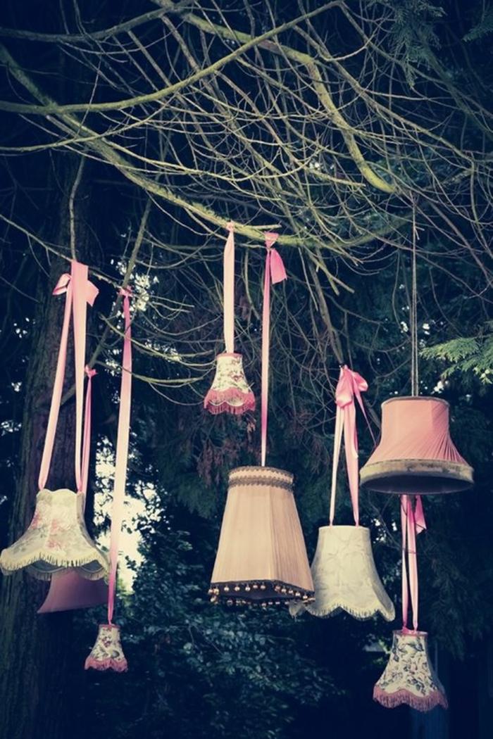 dekoideen gartenparty kreative gartenideen lampenschirme
