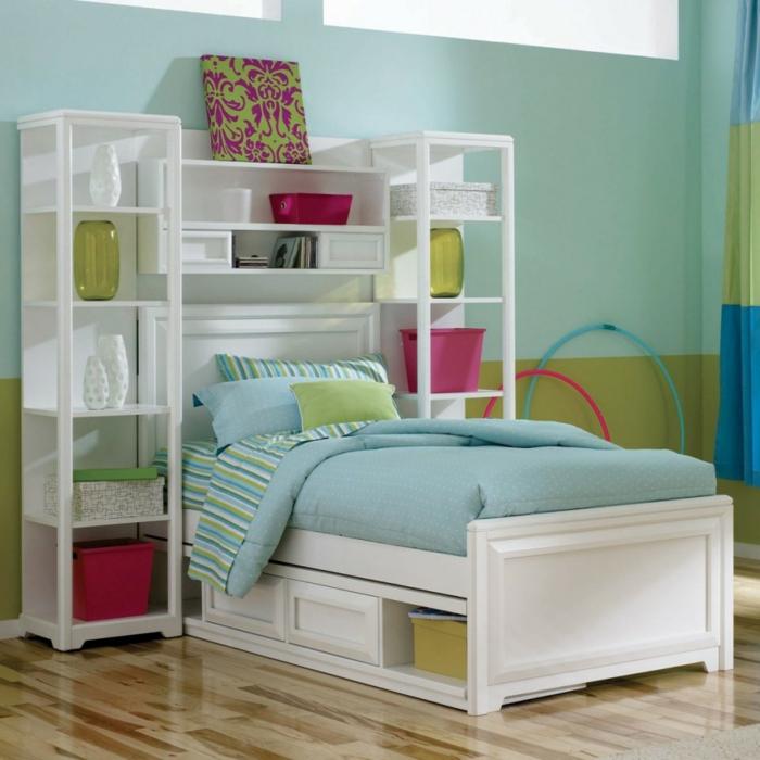 design bodenbelag kinderzimmer einrichten weiße möbel farbige akzente