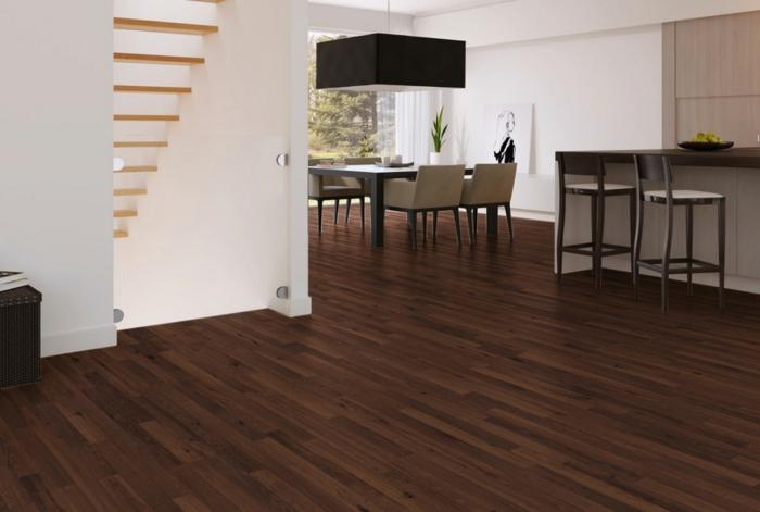 design bodenbelag vinyl offener wohnplan wohnzimmer küche