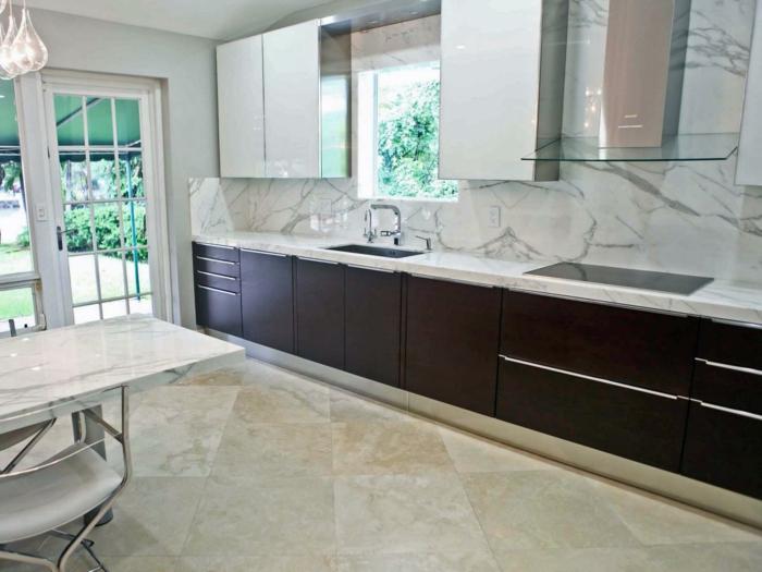 design bodenbelag wohnideen küche küchenrückwand essbereich pendelleuchten