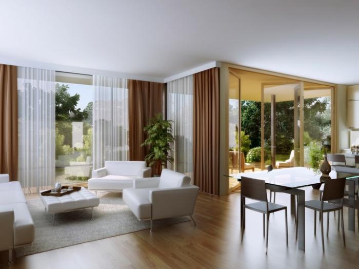 Design Bodenbelag Wohnideen Wohnzimmer Laminatboden Offener Wohnplan