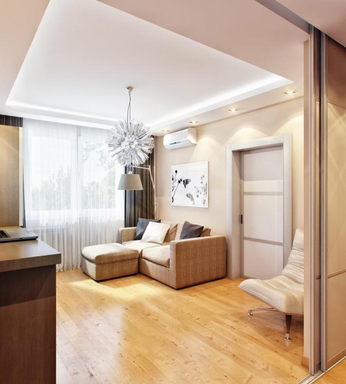design bodenbelag wohnzimmer einrichten laminatboden luftige gardinen