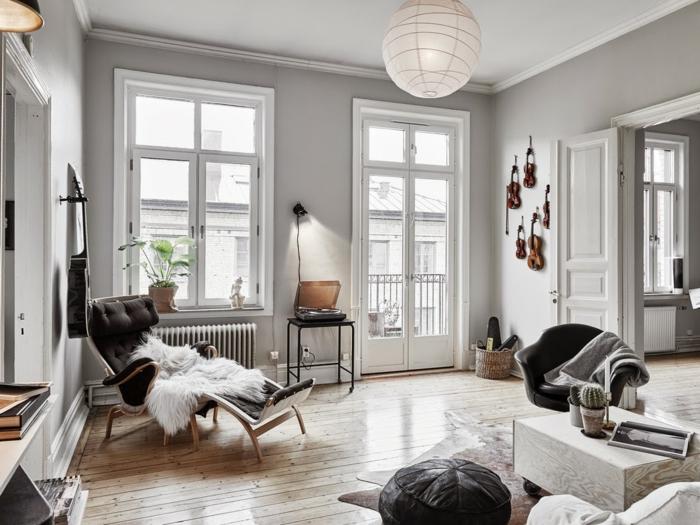 design bodenbelag wohnzimmer gemütlich fell helles interieur