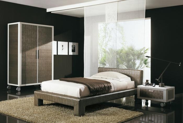 design kleiderschrank ideen ausgefallen räder schlafzimmer möbel