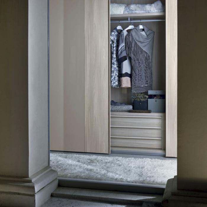 design kleiderschrank schiebetür stauraum ideen schlafzimmer ankleidezimmer