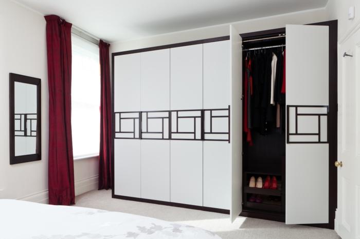 design kleiderschrank weiß viele abteilungen stauraum