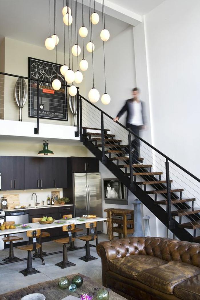 design leuchten pendelleuchten innentreppen wohnideen
