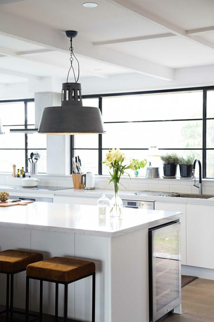 lampen und leuchten wohnideen küche kücheninsel beleuchten